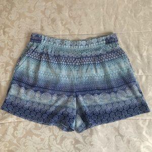 Floral tribal print shorts